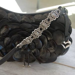 Black Fossil flower purse